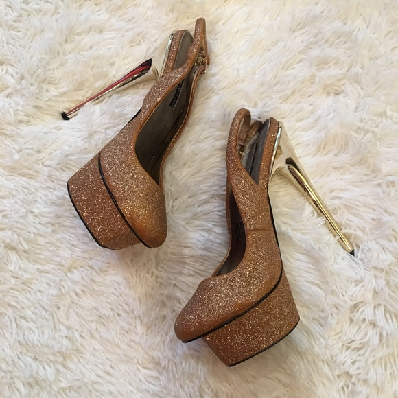 Adrienne Maloof Shoes - Adrienne Maloof Charles Jourdan Platform stiletto